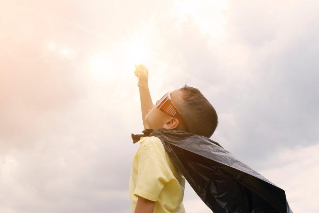 enfance super héros