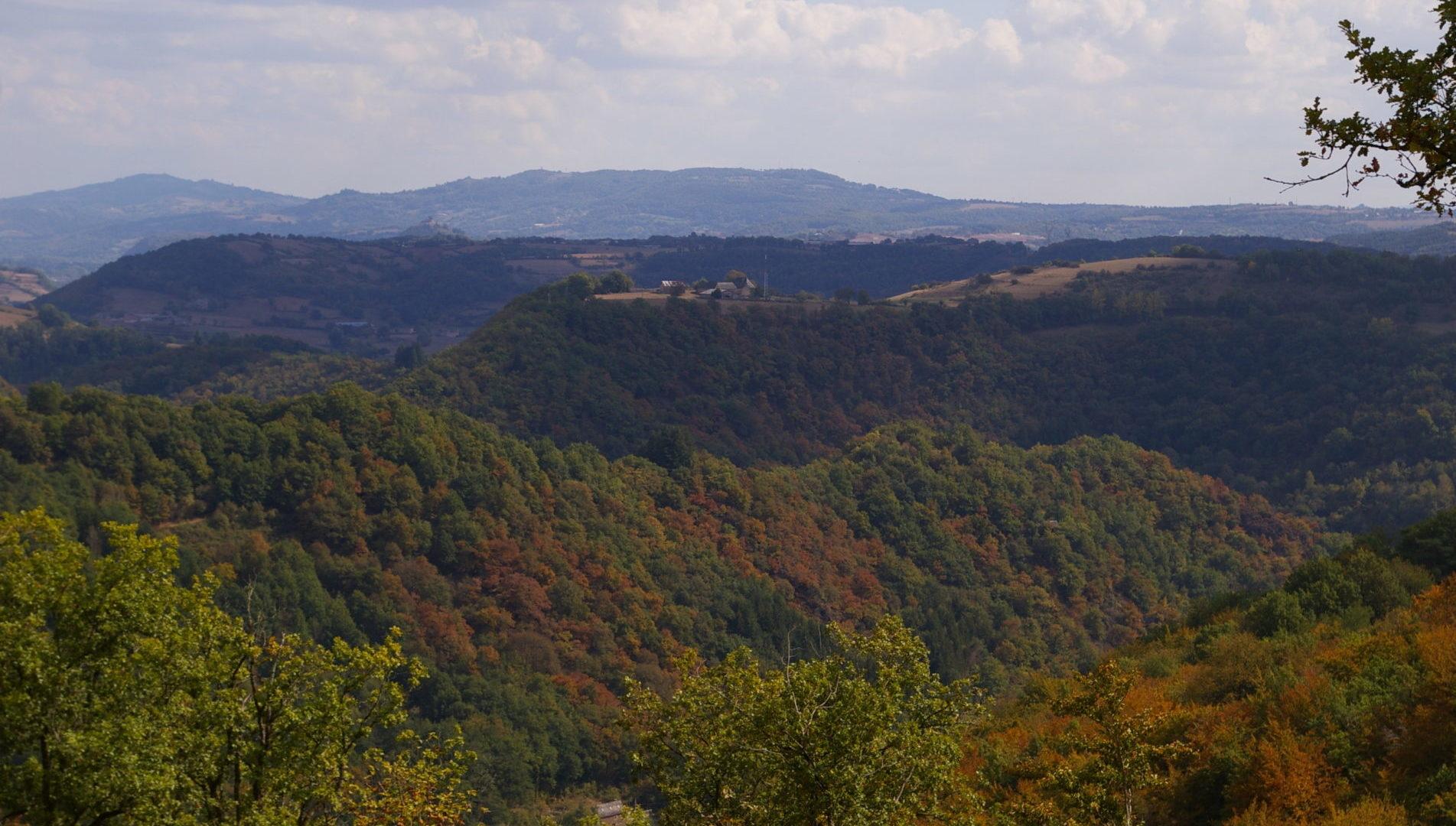 Vue sur la campagne vers Sébrazac
