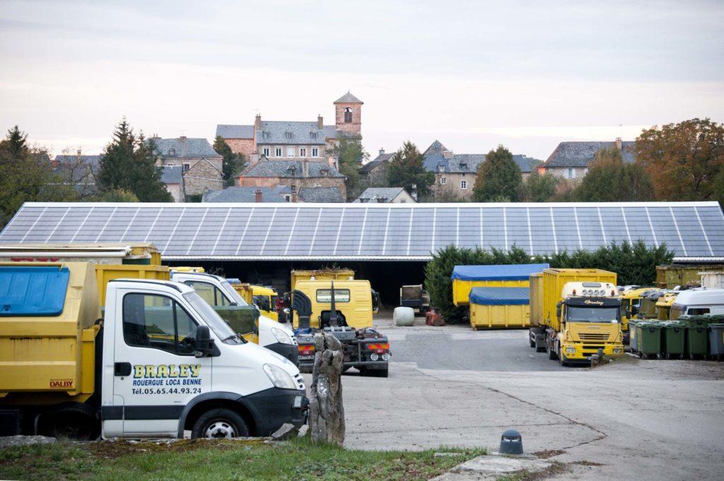 Vue d'ensemble, parc auto - entreprise Braley, 3clt en Aveyron
